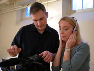 SVG camera crew testing auio levels at a recent shoot