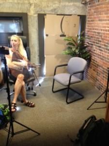 Skillman Video Shoots in Boston Office
