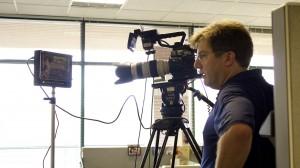Skillman Video Group Cinematographer Shooting testimonial video