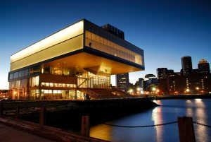 ICA Building Boston Night