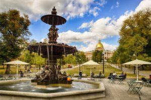 Boston Commons fountain