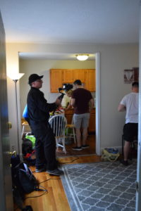 shooting using gimbal in apartment