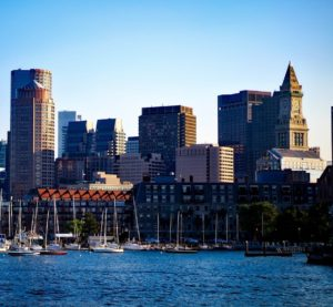 Charles River Boston Skyline